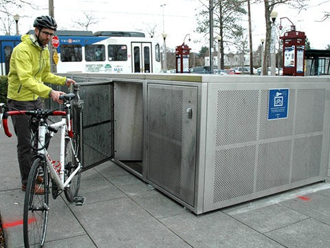 Reserved bike locker