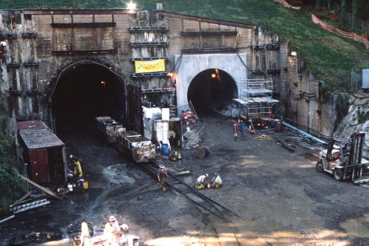 Construction of the Westside MAX tunnel