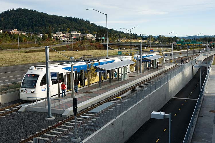 MAX Green Line at the Clackamas Town Center station