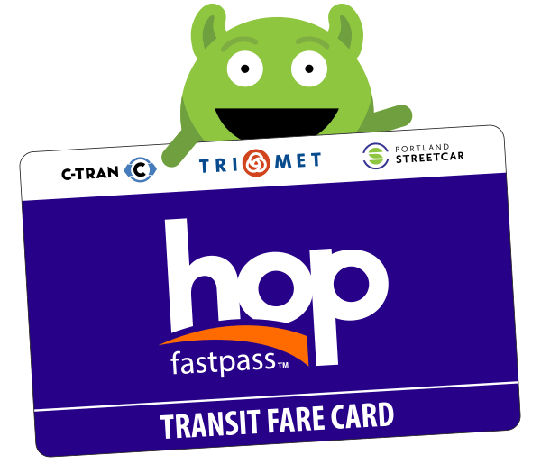 Hopster with Hop card