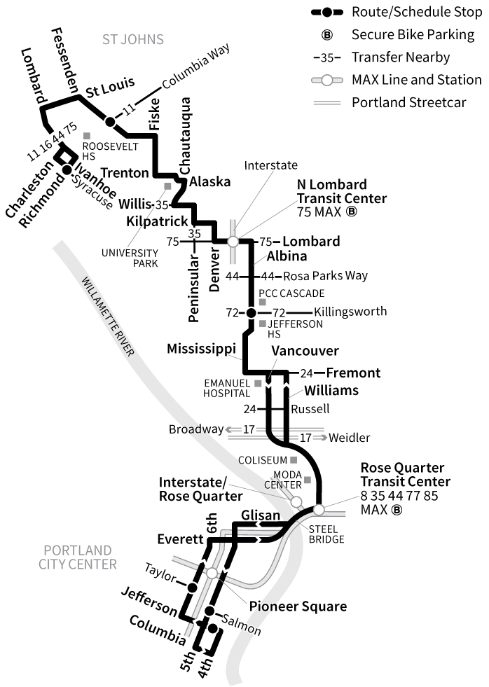 Bus Line 4 route map