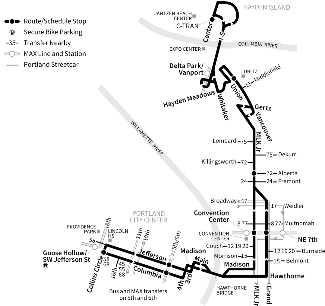 Bus Line 6 route map
