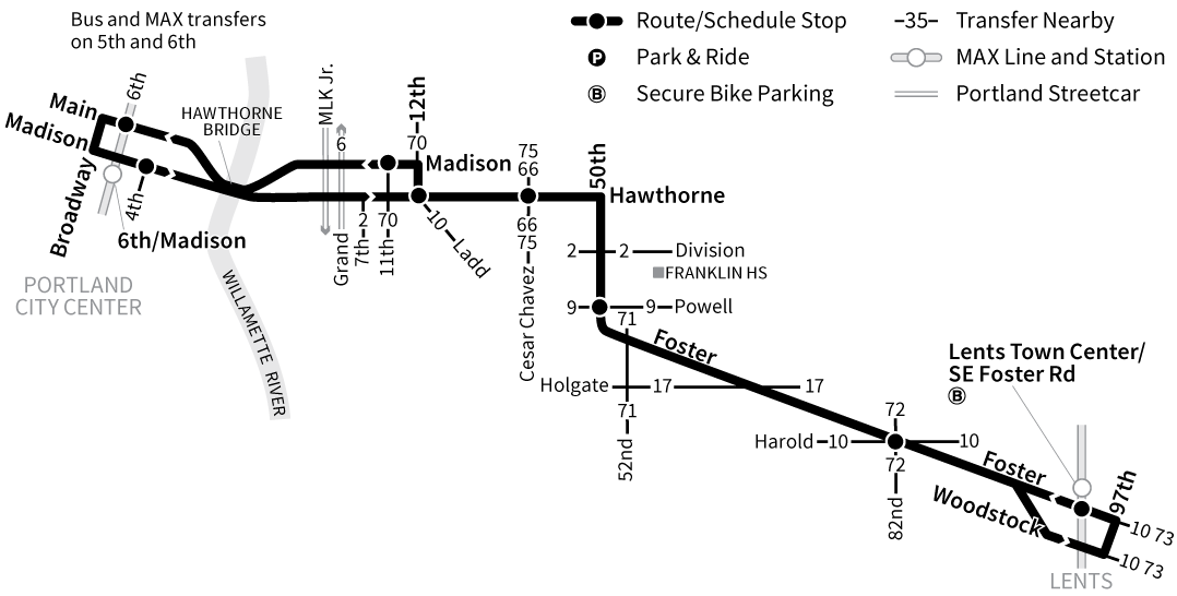 Bus Line 14 route map