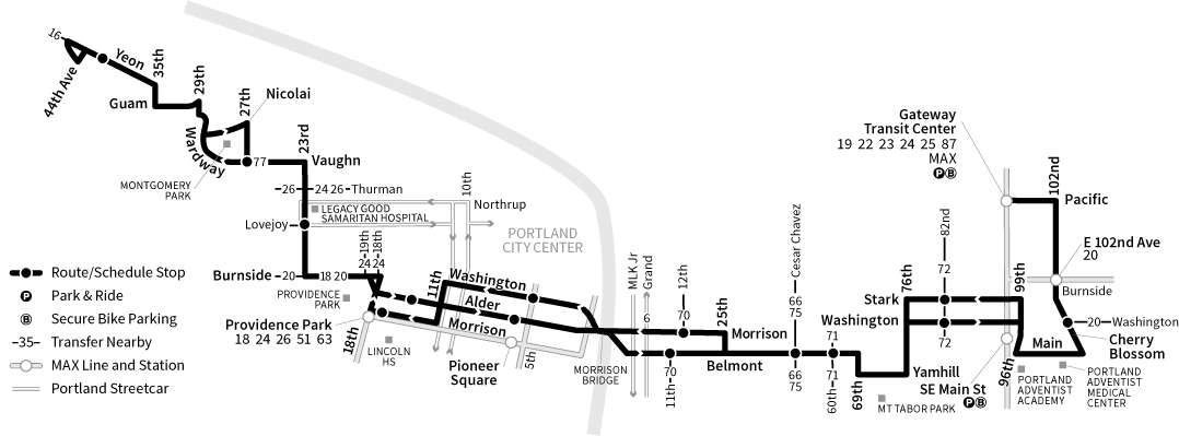 Bus Line 15 route map