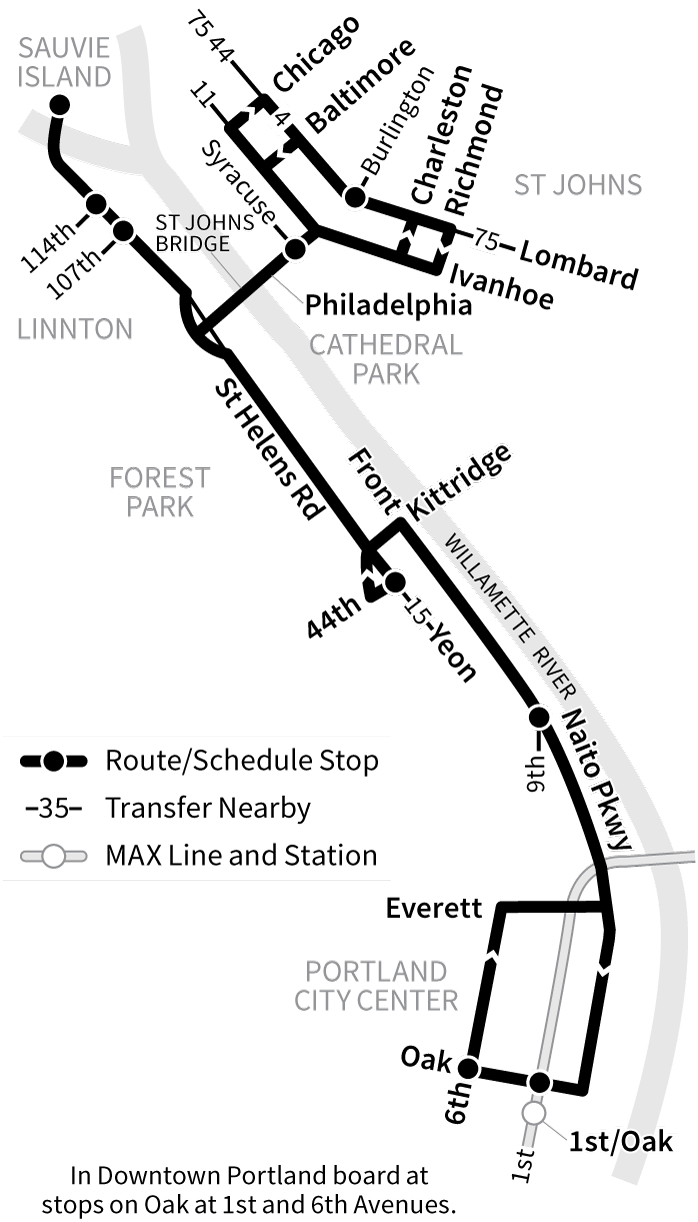 Bus Line 16 route map