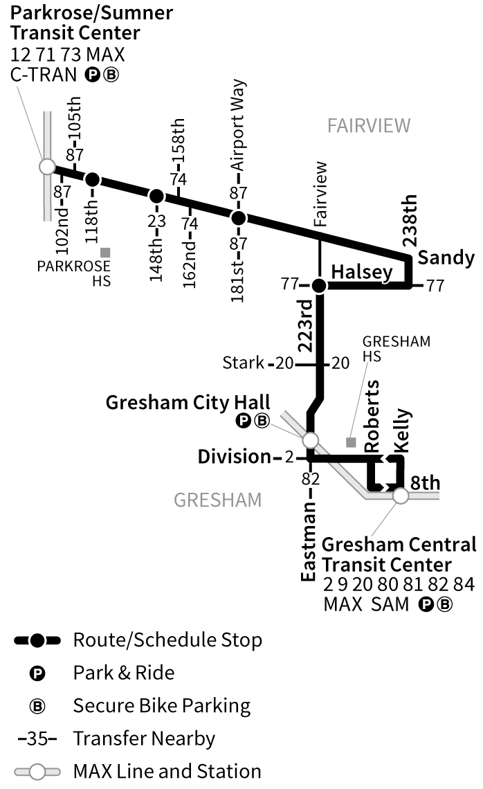Bus Line 21 route map