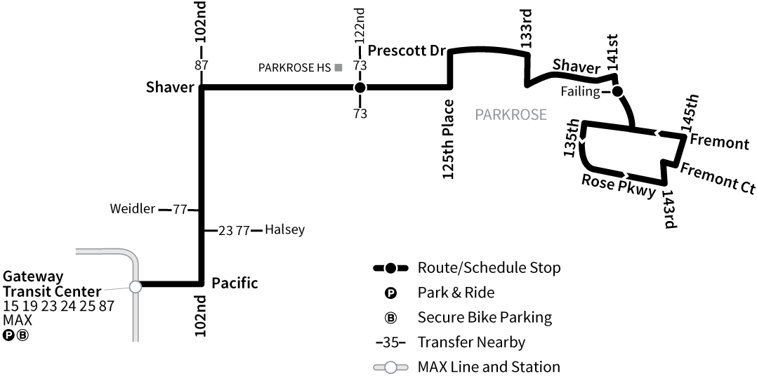 Bus Line 22 route map