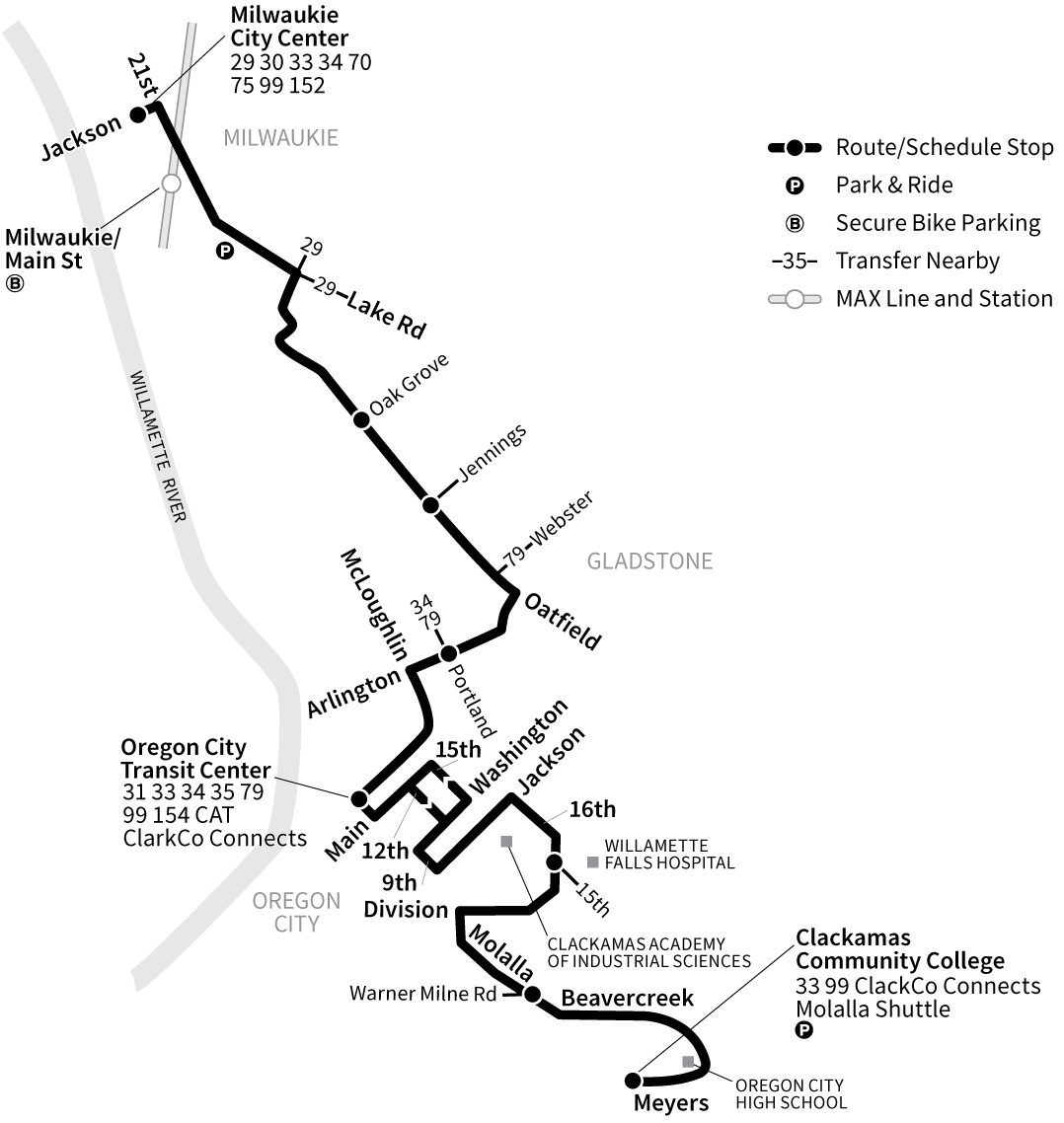 Bus Line 32 route map