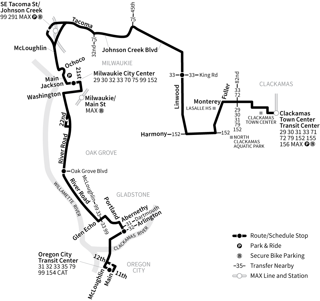 Bus Line 34 route map