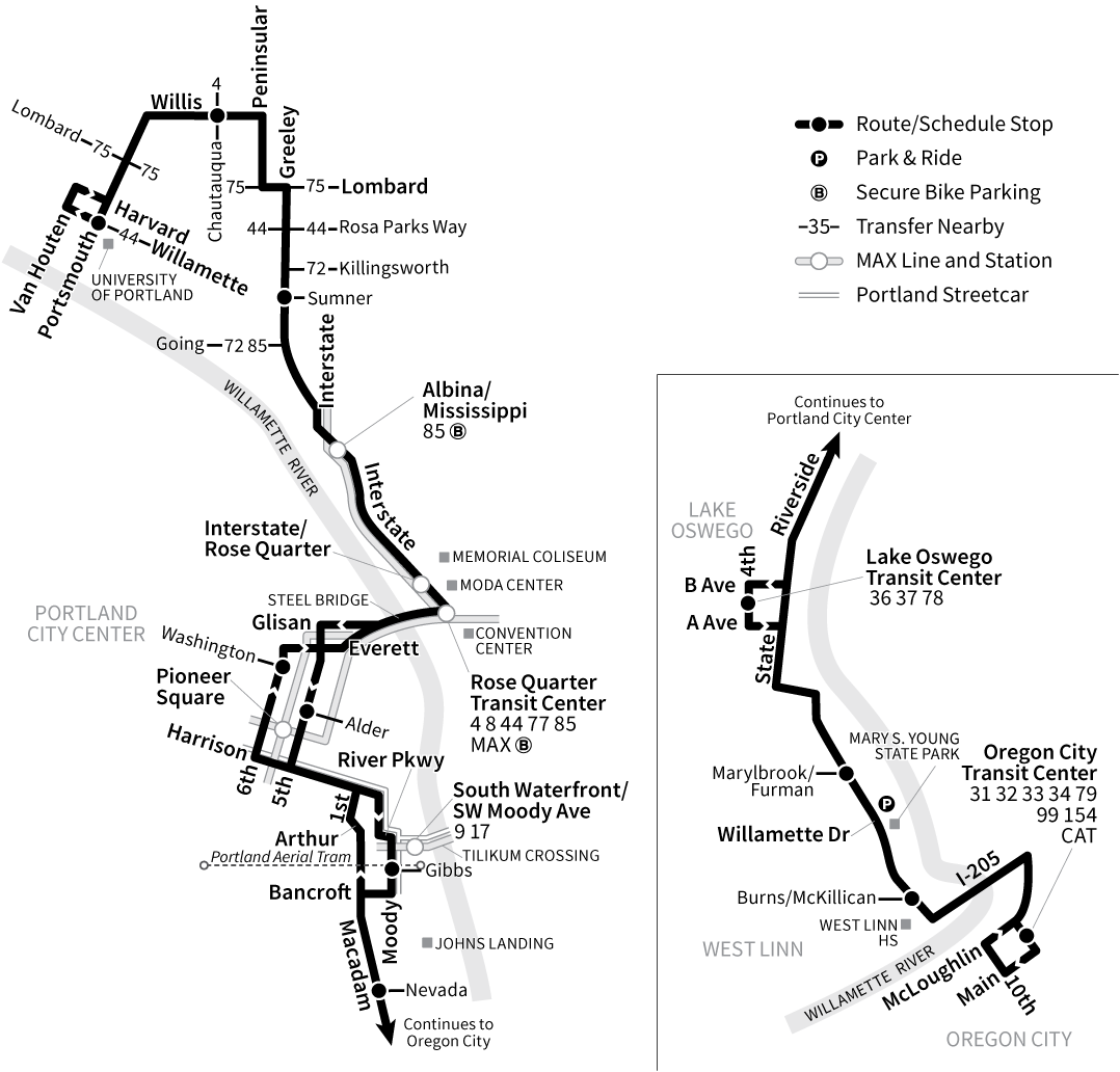 Bus Line 35 route map