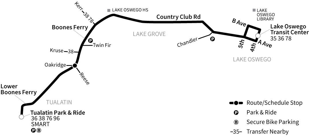 Bus Line 37 route map