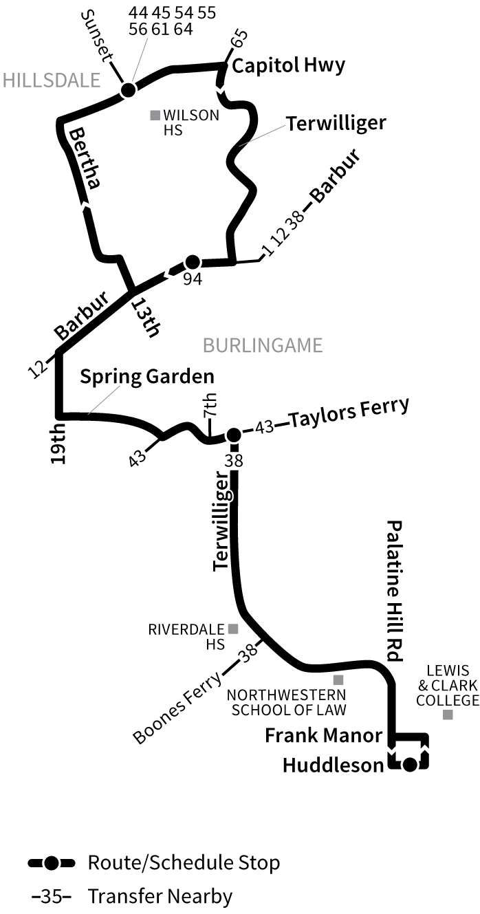 Bus Line 39 route map