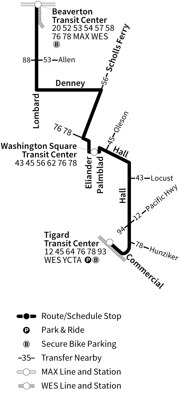 Bus Line 42 route map