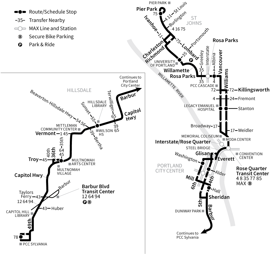 Bus Line 44 route map