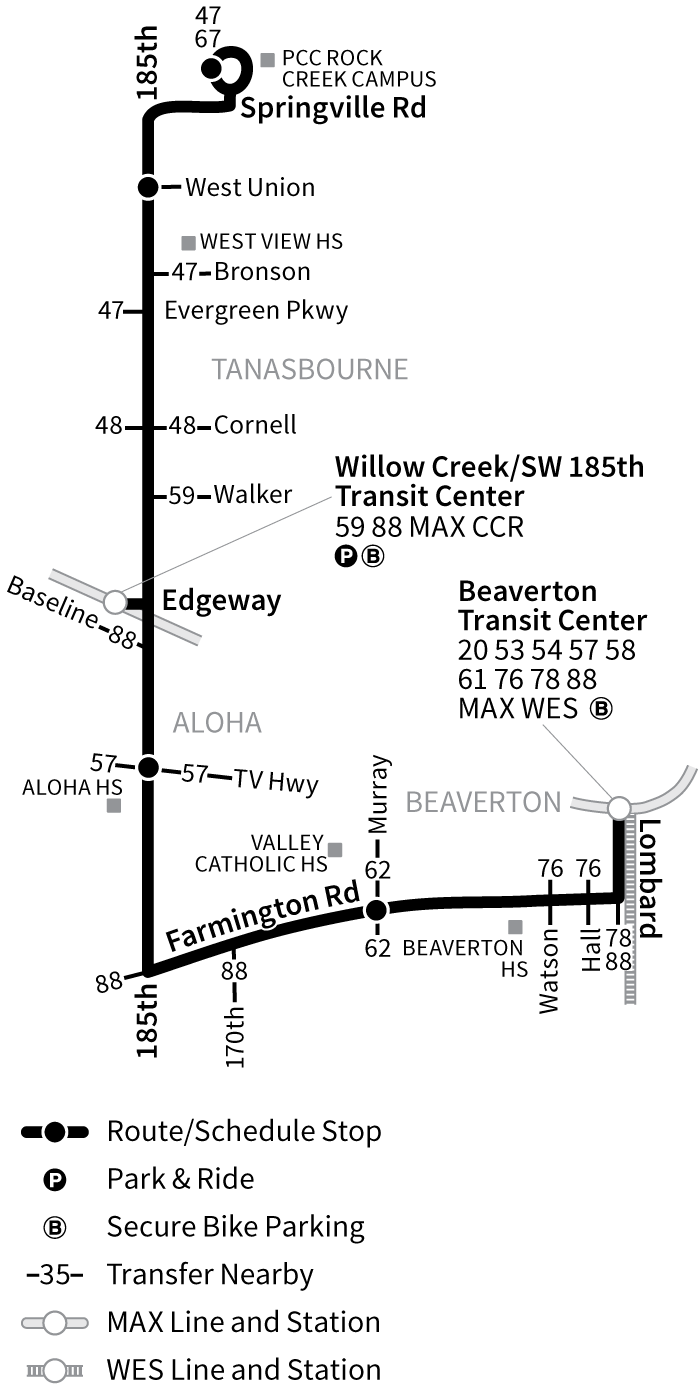 Bus Line 52 route map