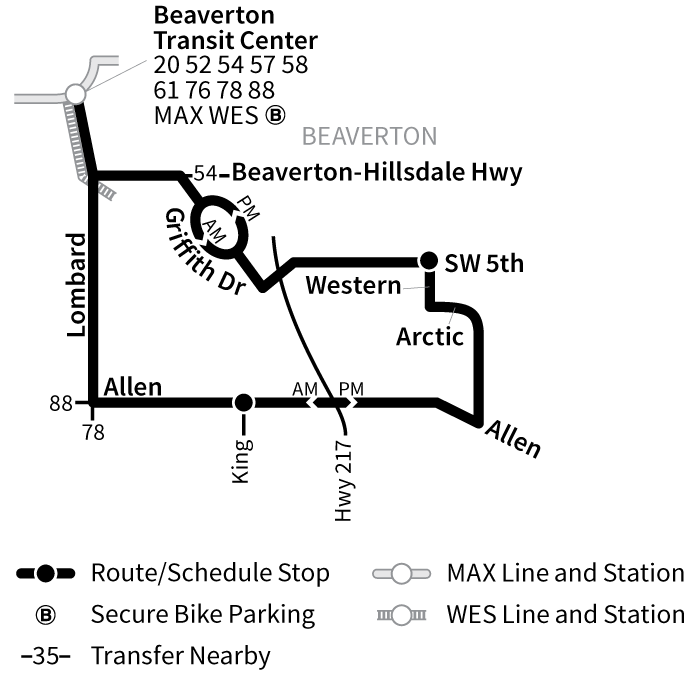 Bus Line 53 route map