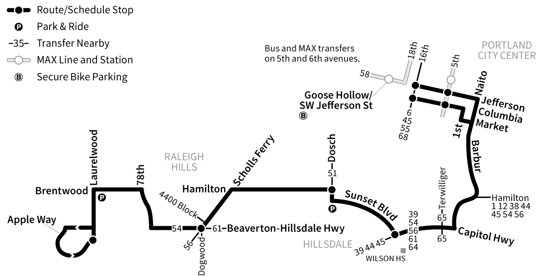 Bus Line 55 route map
