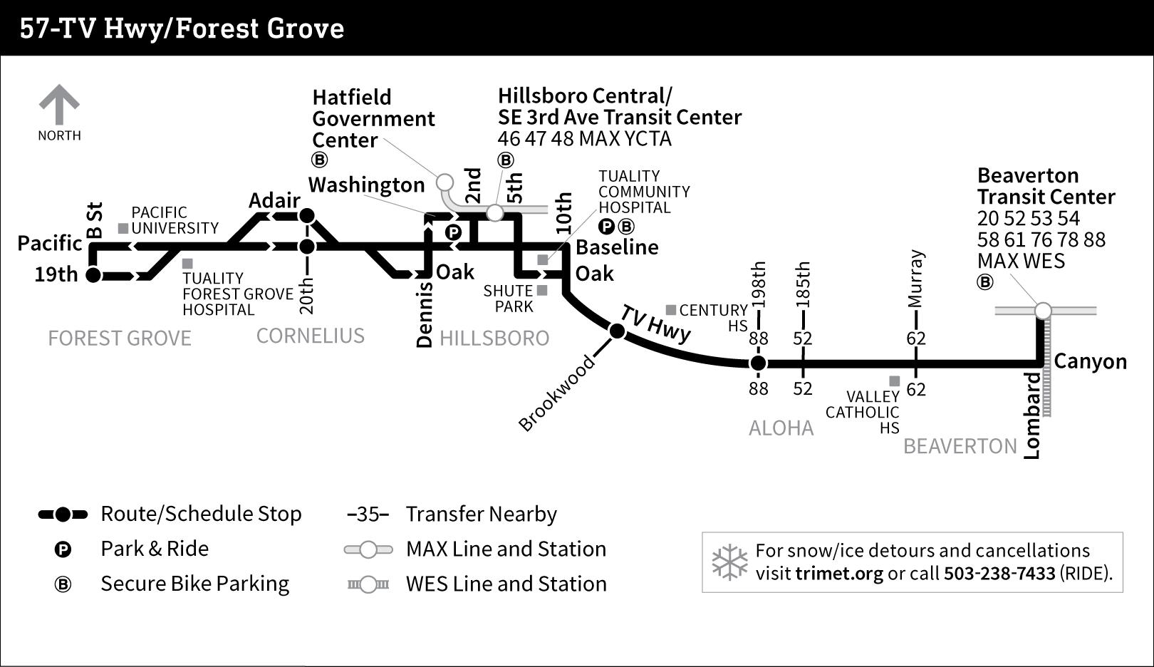 bus line 57 route map