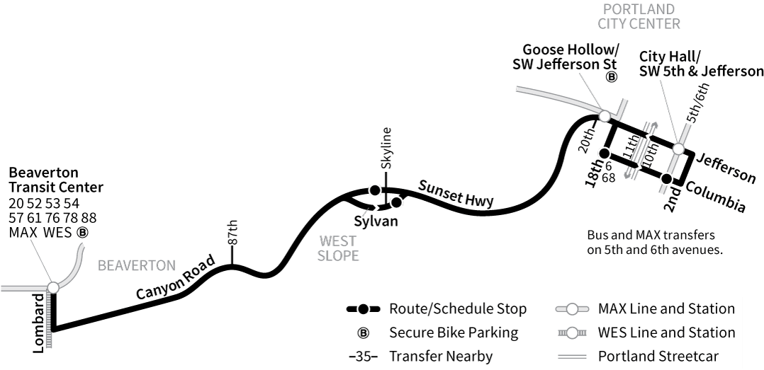 Bus Line 58 route map