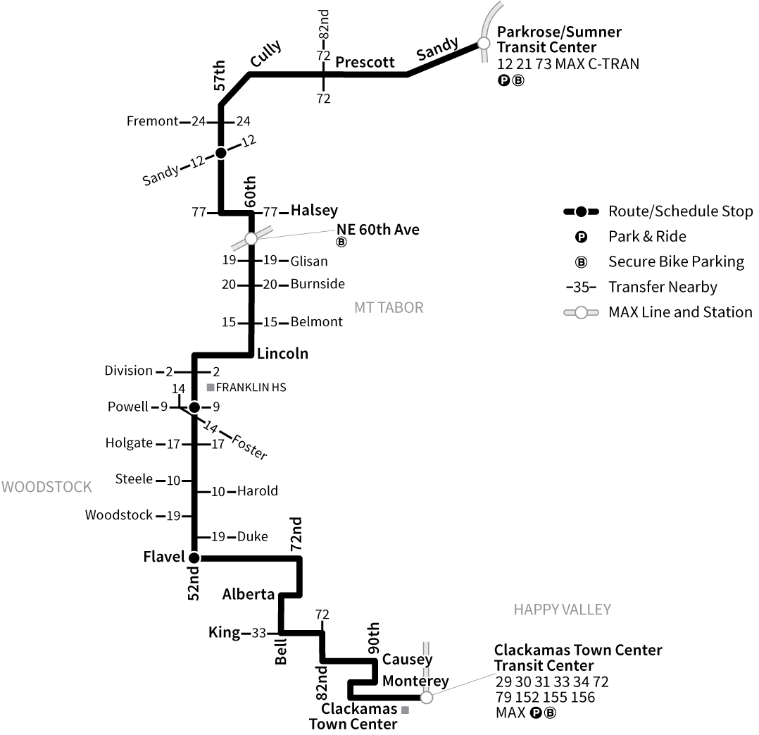 Bus Line 71 route map