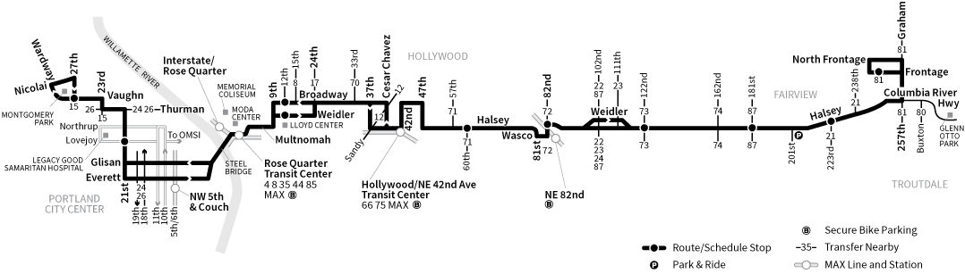 Bus Line 77 route map