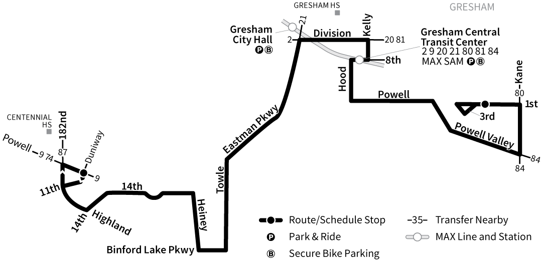 Bus Line 82 route map
