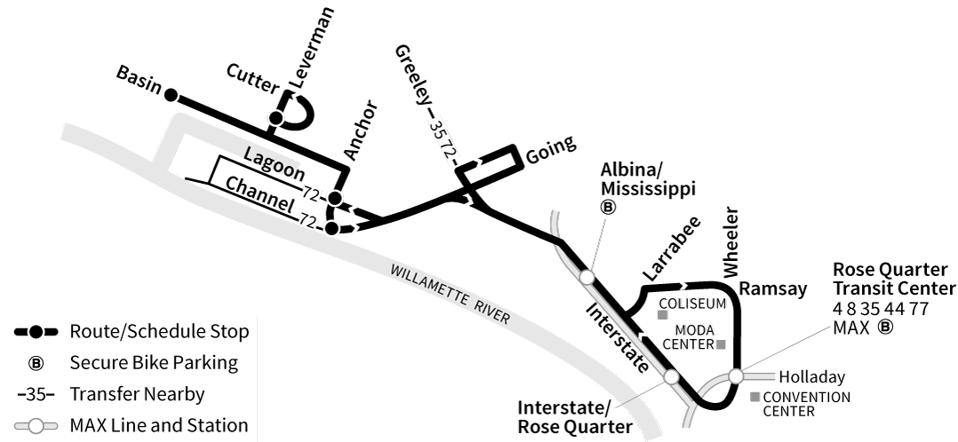 Bus Line 85 route map