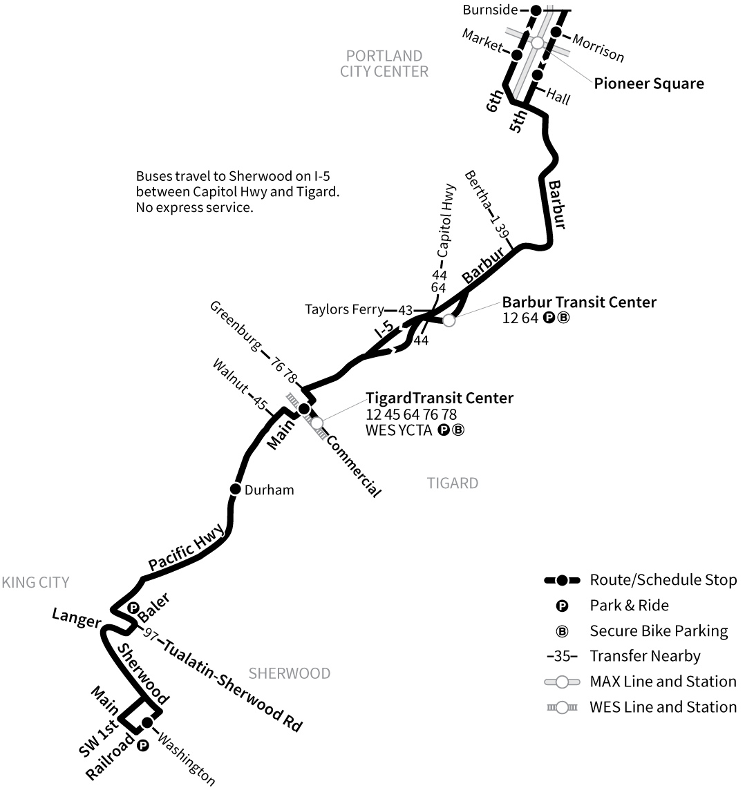 Bus Line 94 route map