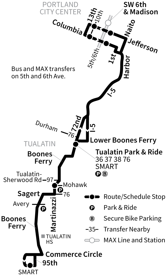 Bus Line 96 route map