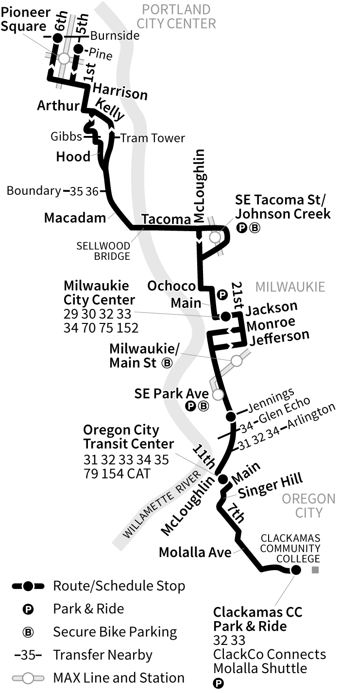 Bus Line 99 route map