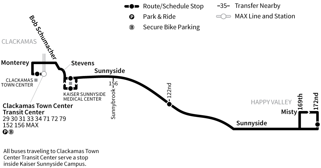 Bus Line 155 route map