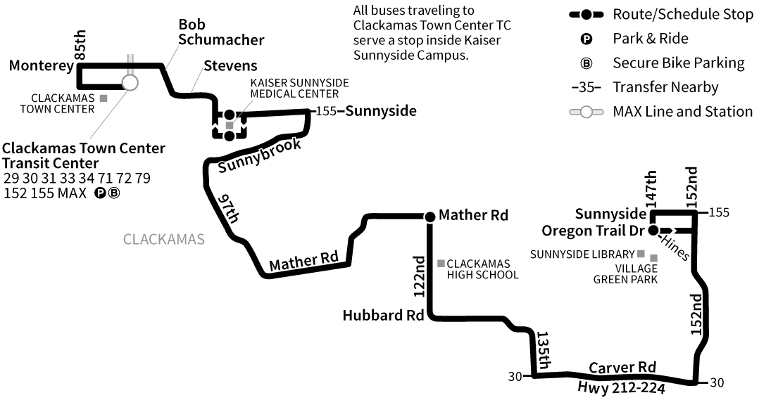 Bus Line 156 route map