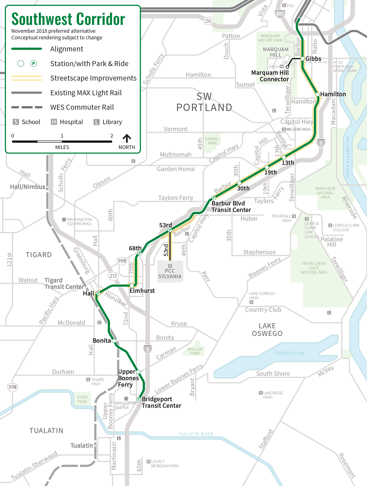 detailed route map
