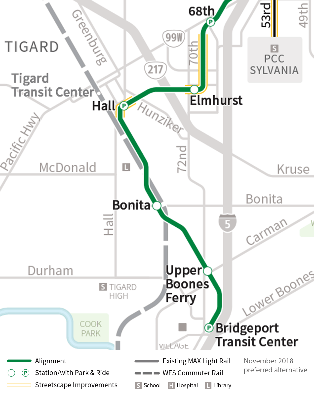 Tigard and Tualatin stations
