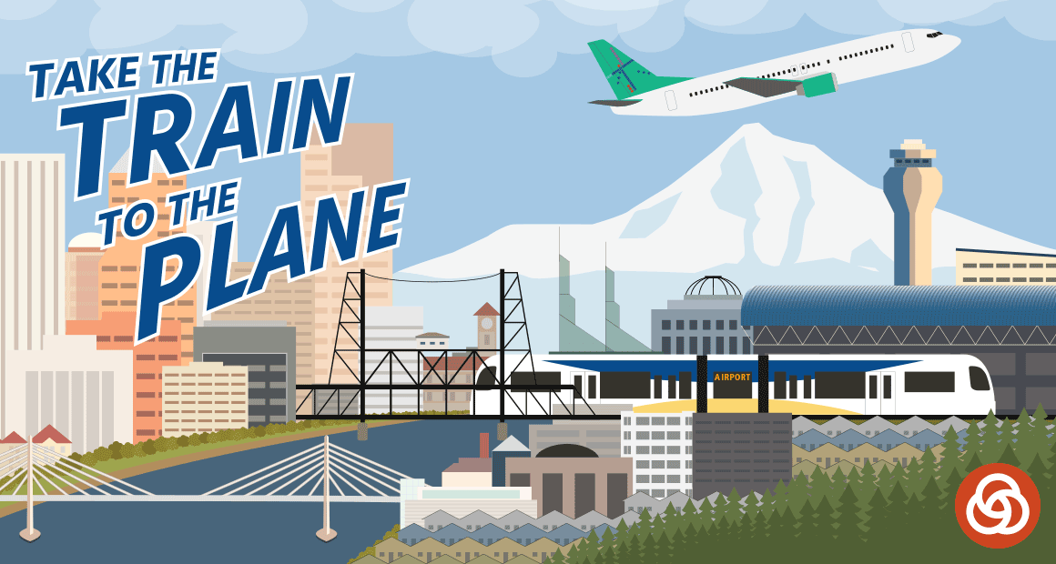 Take the train to the plane