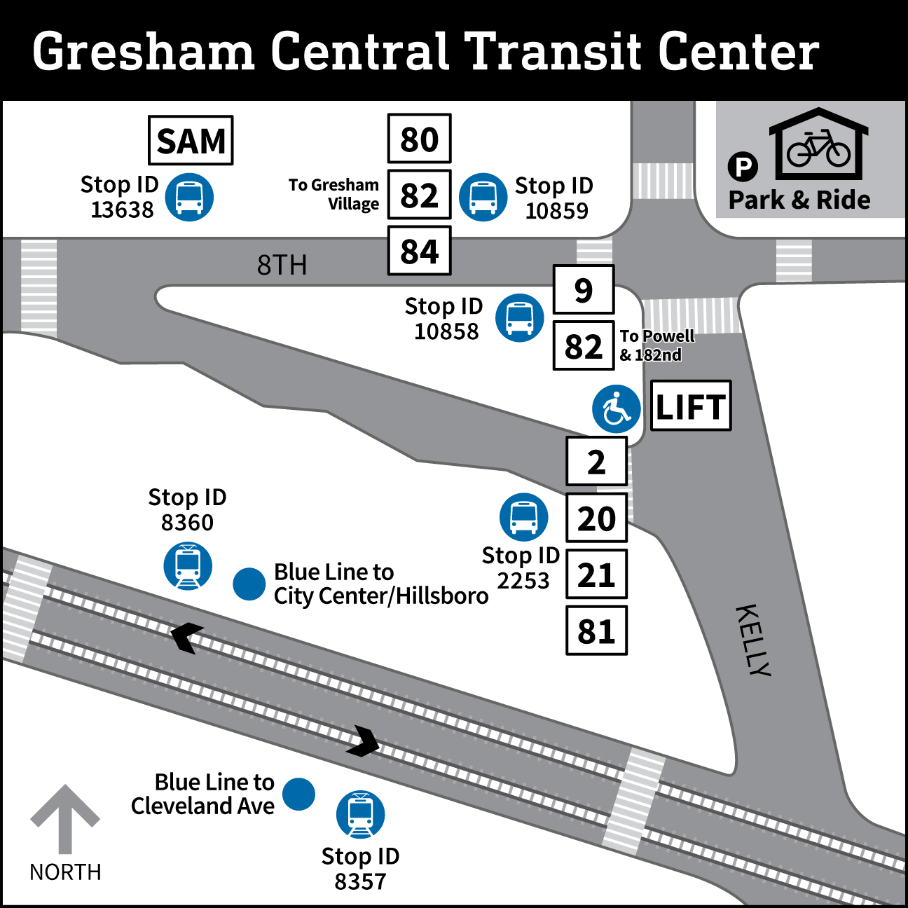 Map of Gresham Transit Center