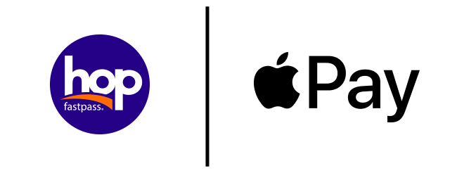 Hop logo and Apple Pay logo