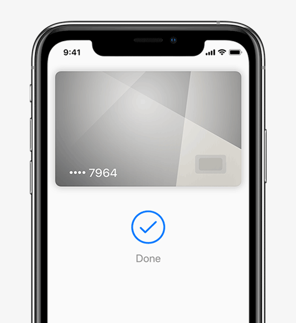 iPhone showing a bank card