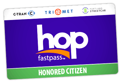 Honored Citizen Hop card
