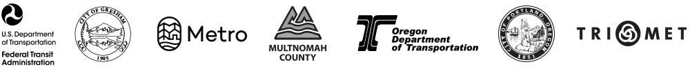 City of Gresham, Metro, Multnimah County, ODOT, City of Portland, TriMet