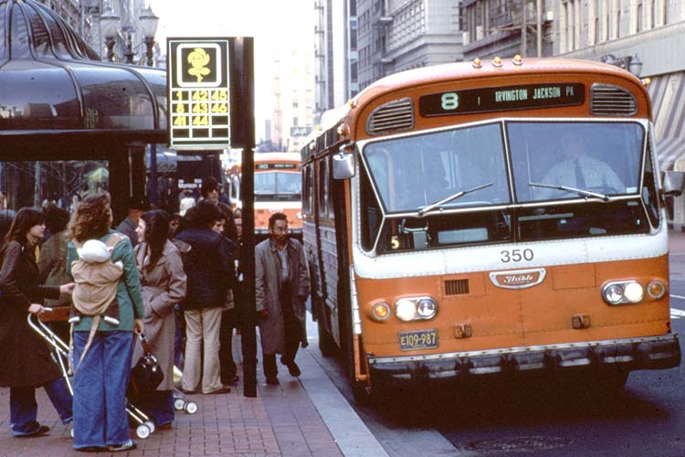 Portland Transit Mall after opening