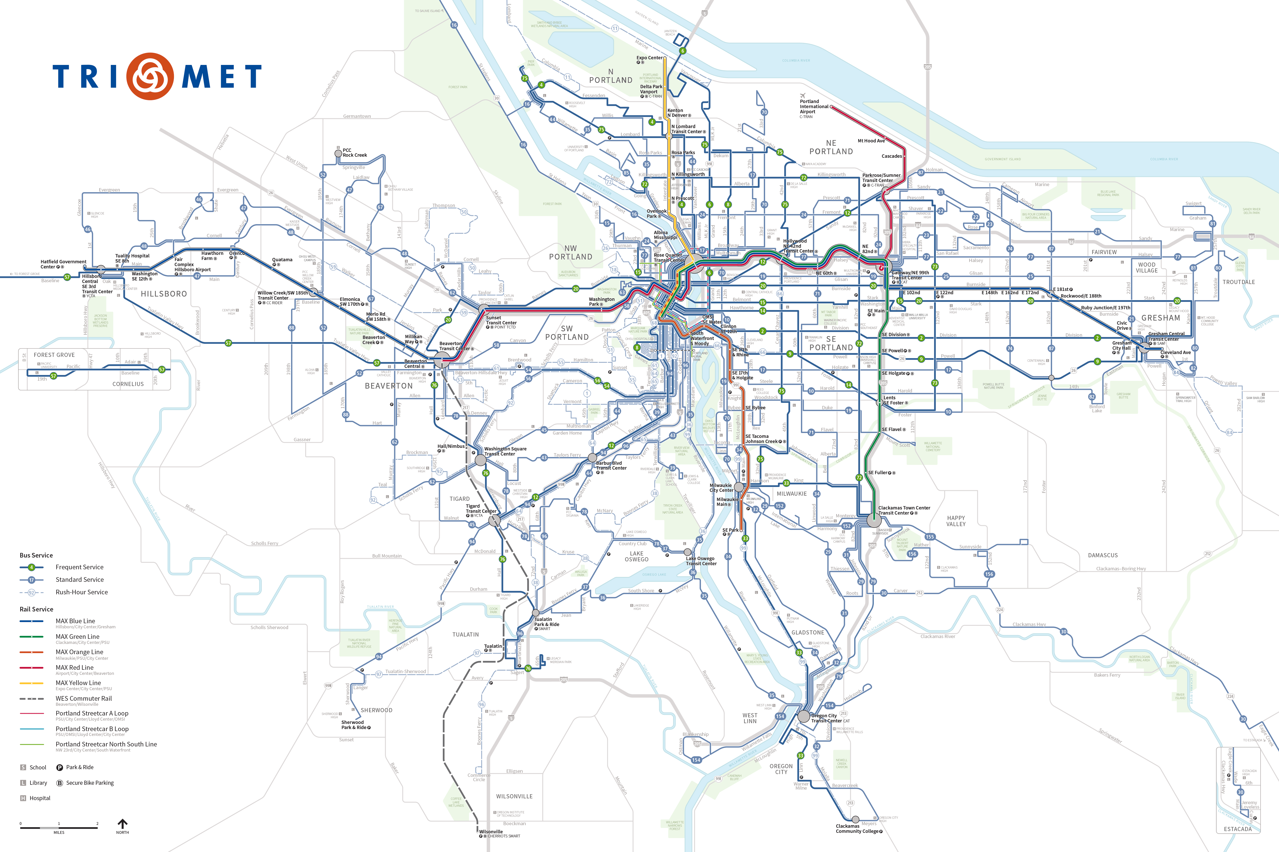U Of Oregon Map.Maps And Schedules For Trimet Buses Max And Wes
