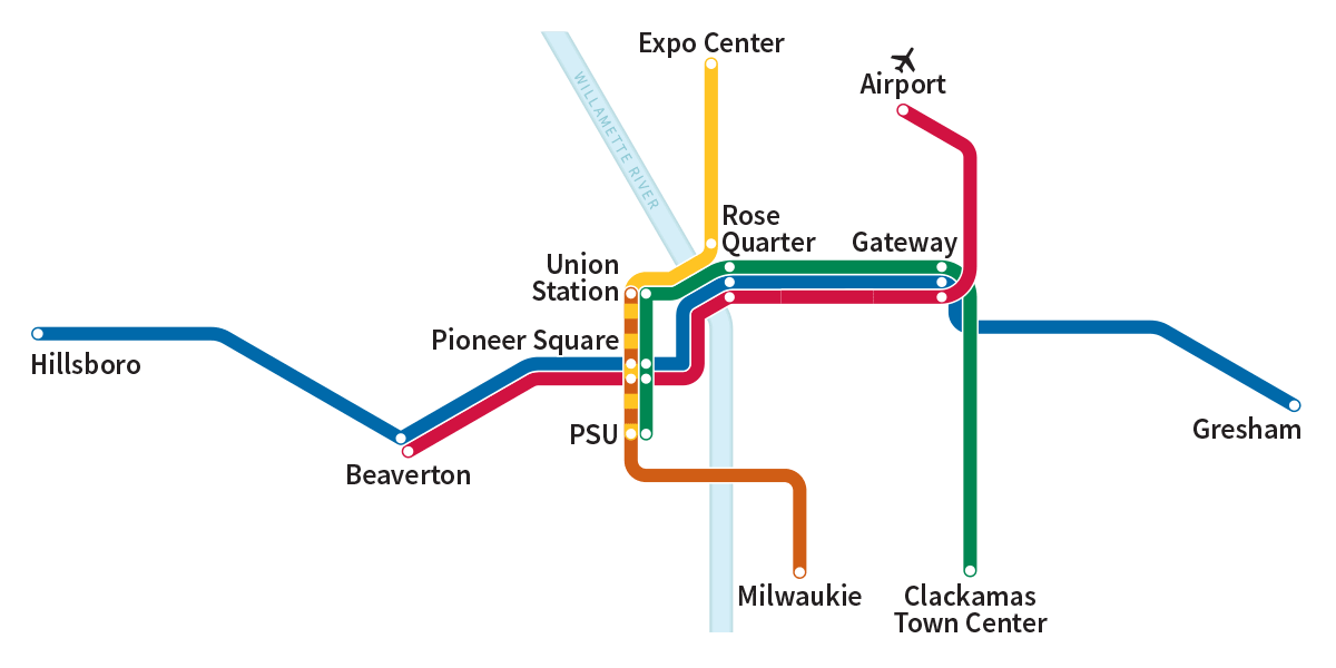Image result for trimet max map