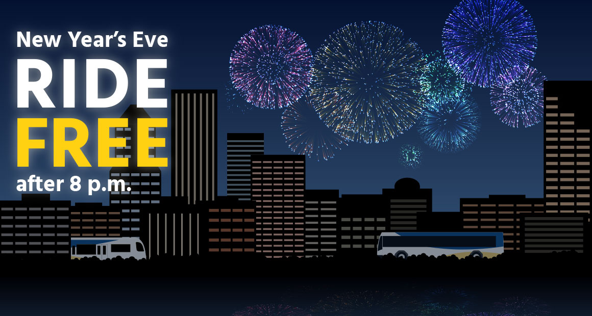 Ride free after 8 p.m. on New Year's Eve