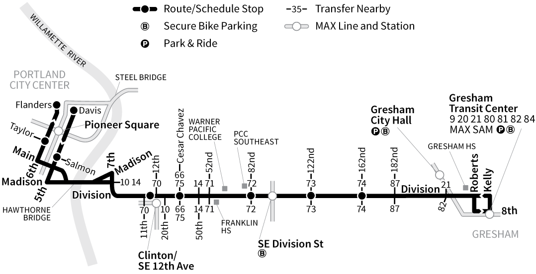 Bus Line 2 route map