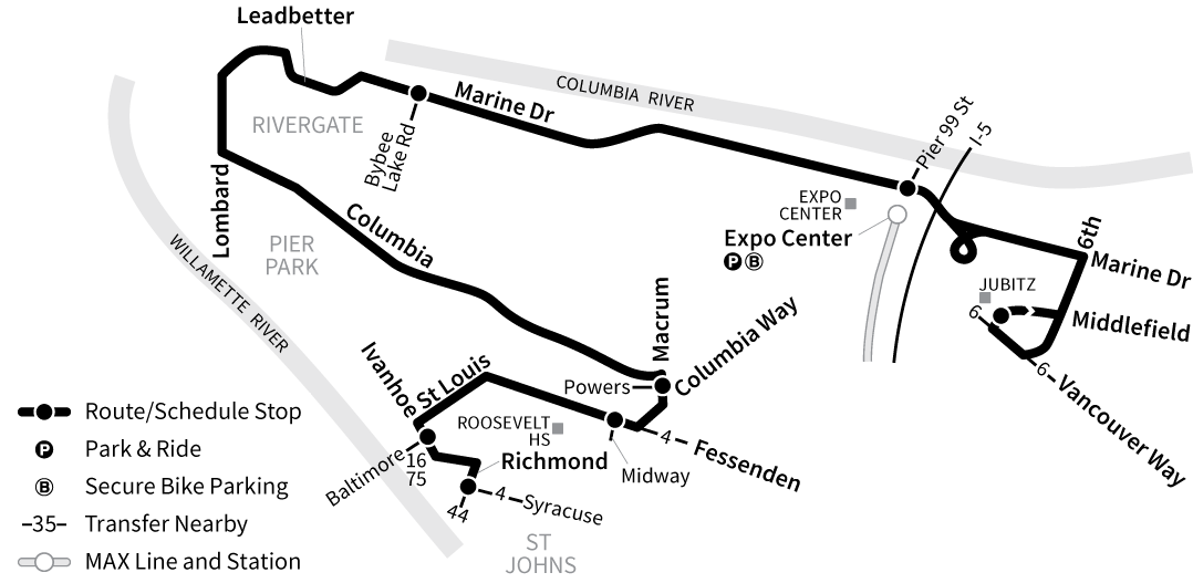Bus Line 11 route map