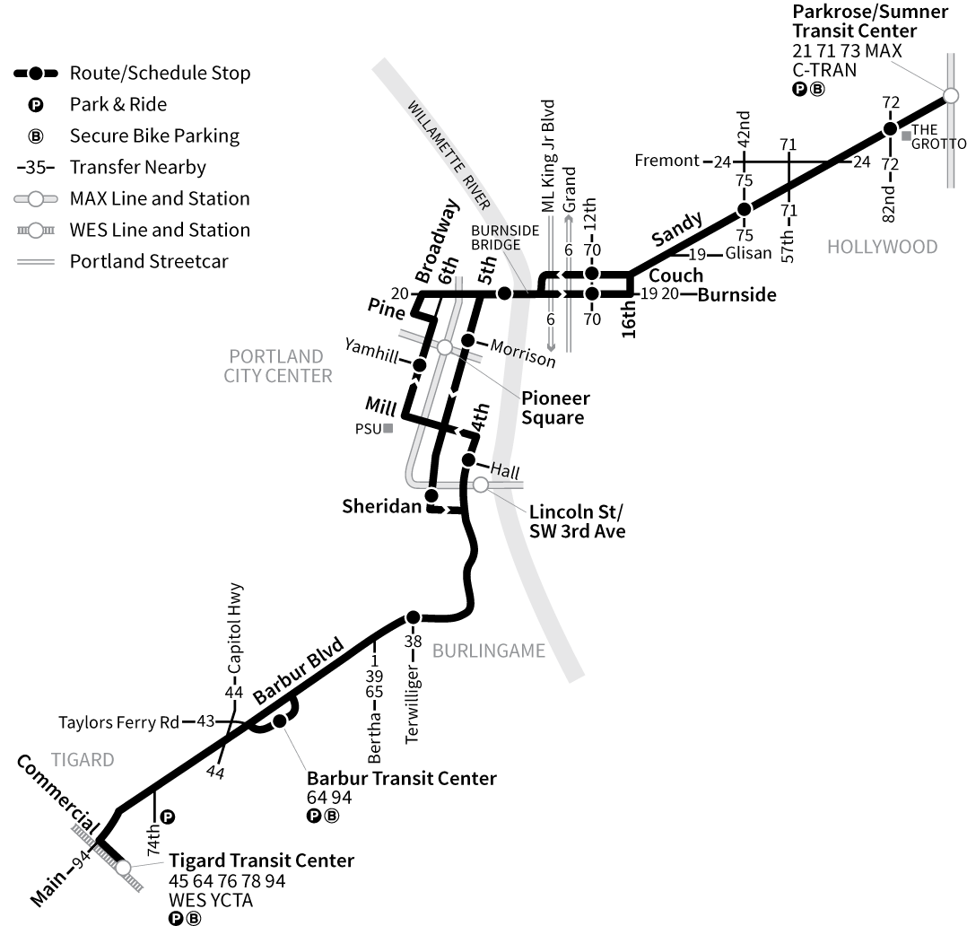 Bus Line 12 route map