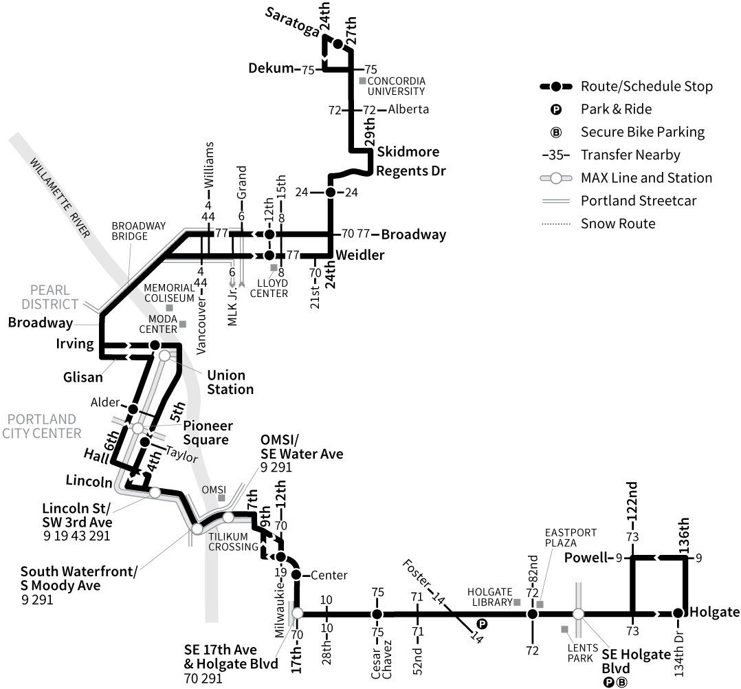 Bus Line 17 route map