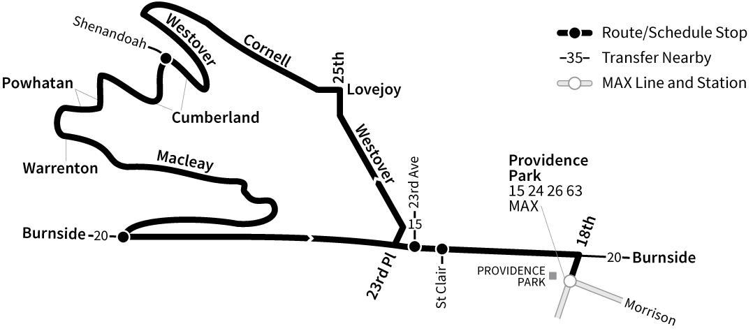 Bus Line 18 route map