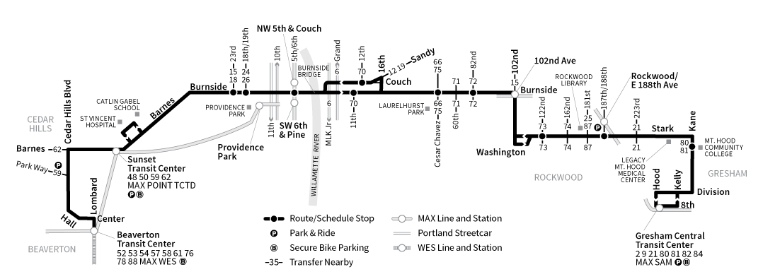 Bus Line 20 route map